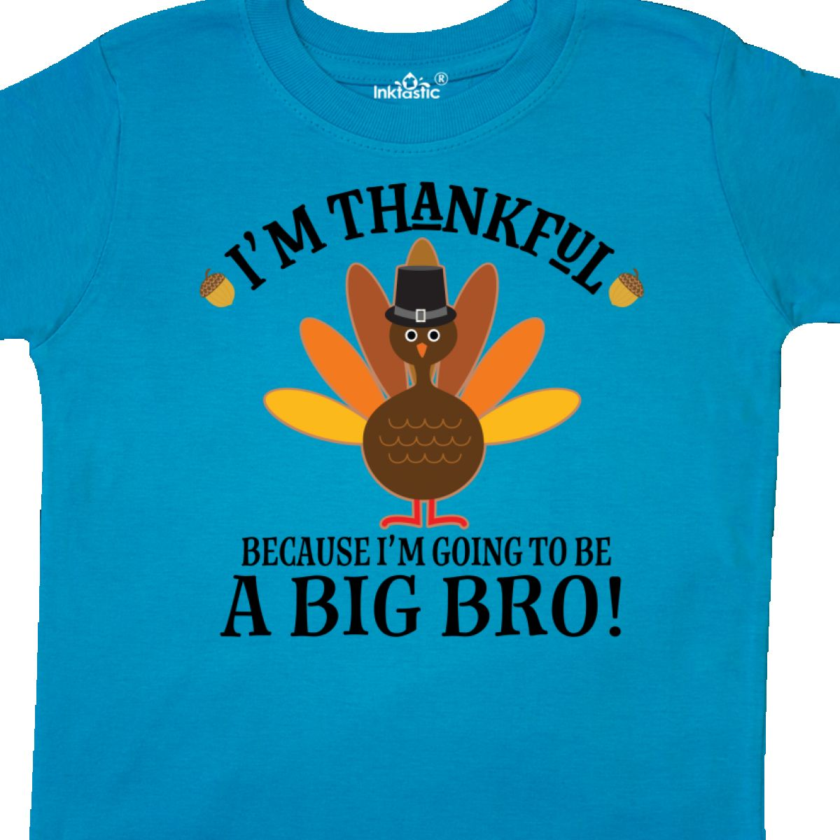 Inktastic Big Bro Announcement Thanksgiving Brother Toddler T-Shirt Sibling News