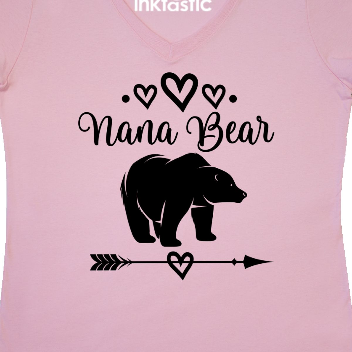 Inktastic Nana Bear Grandma Gift Women/'s V-Neck T-Shirt Clothing Tribal Present