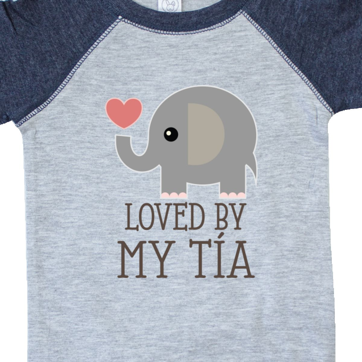 Inktastic Tia Loves Me Baby Elephant Infant Creeper Aunt From Present New Hws