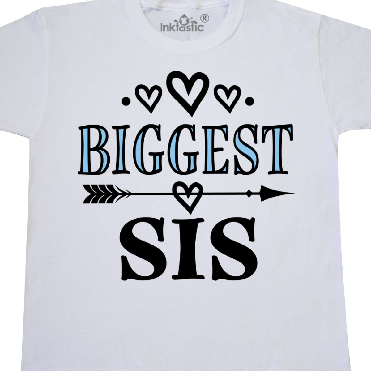 Inktastic Biggest Sis Girls Sister Announcement Youth T-Shirt Clothing Clothes