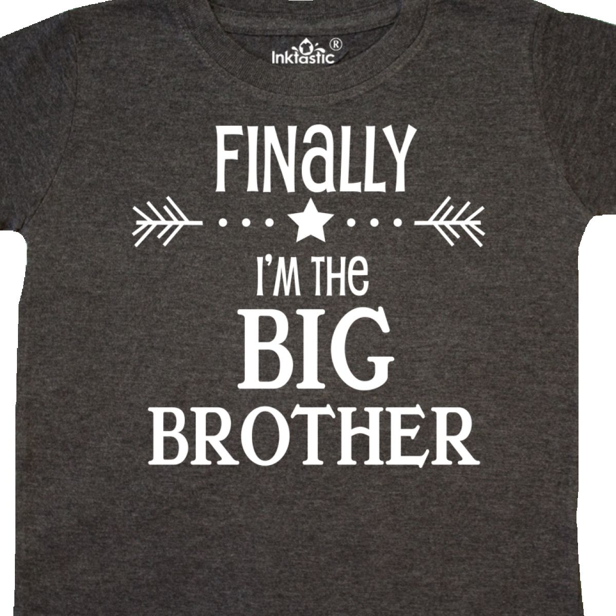 Inktastic Finally Im The Big Brother Toddler T-Shirt Siblings Sister Family Baby