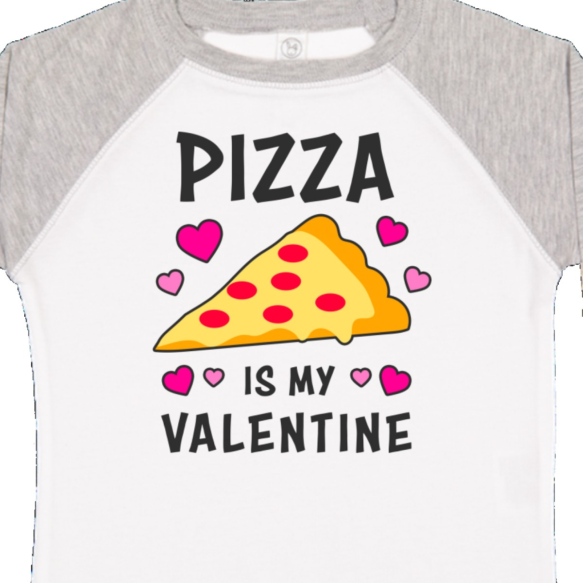 Inktastic Pizza Is My Valentine With Hearts Toddler T-Shirt Valentines Lover Kid