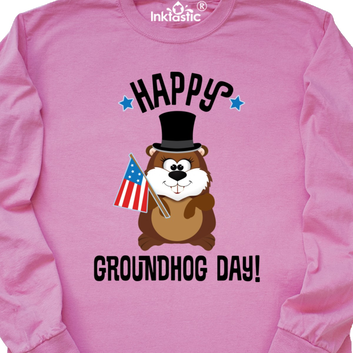 Inktastic Happy Groundhog Day February Long Sleeve T-Shirt Shadow 2 2nd Holiday