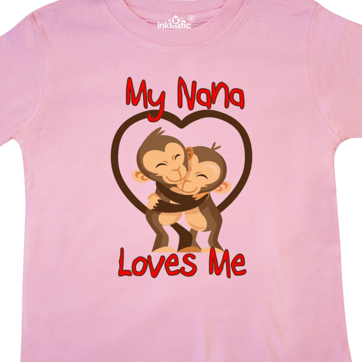 Inktastic My Nana Loves Me Monkey Toddler T-Shirt Cute Grandma Grandmother Gift