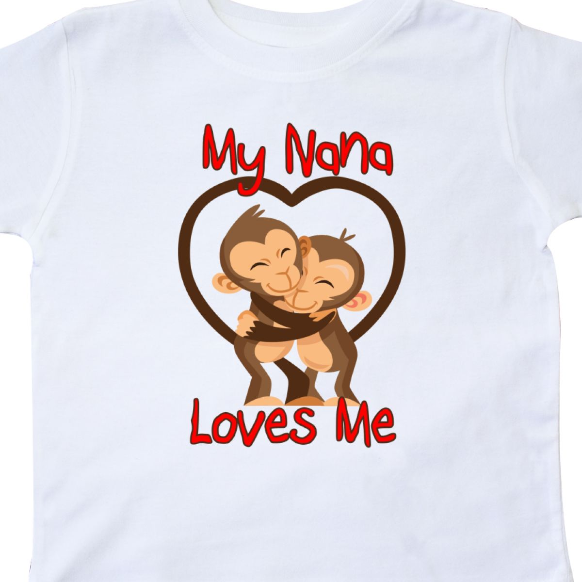 Inktastic My Nana Loves Me Monkey Toddler T-Shirt Cute Grandma Grandmother Gift