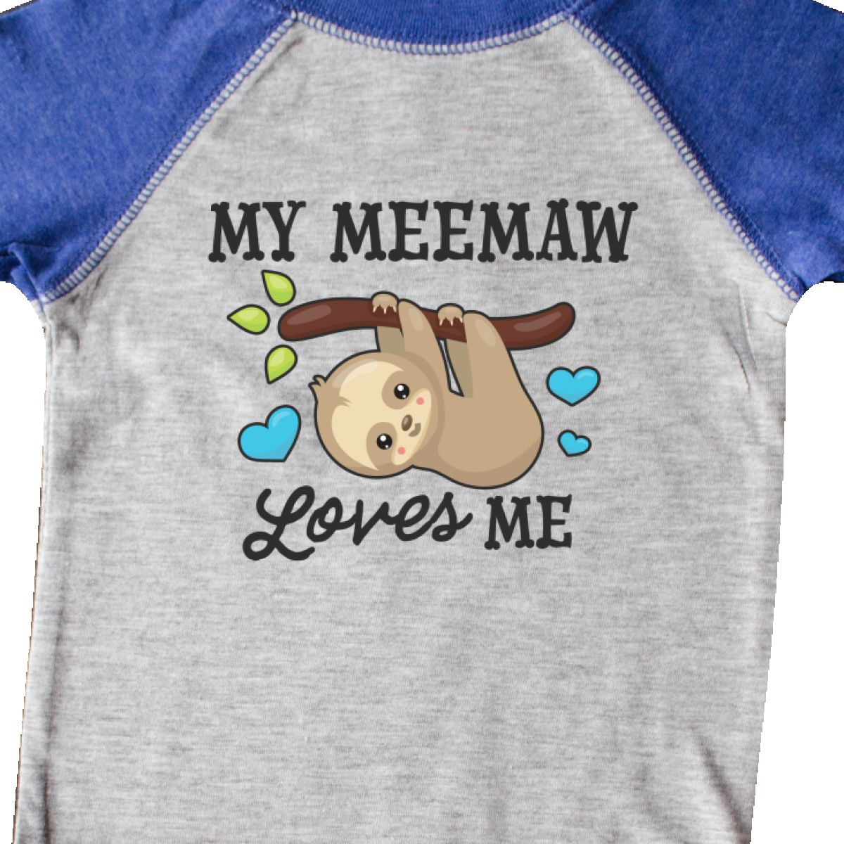 Inktastic My Meemaw Loves Me With Sloth And Hearts Infant Creeper Animals Kids