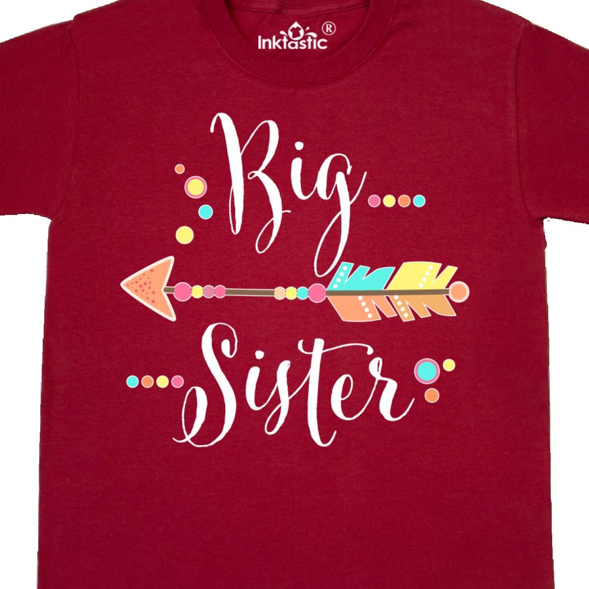 Inktastic Big Sister Dots And Arrow Youth T-Shirt Siblings Sisters New Future