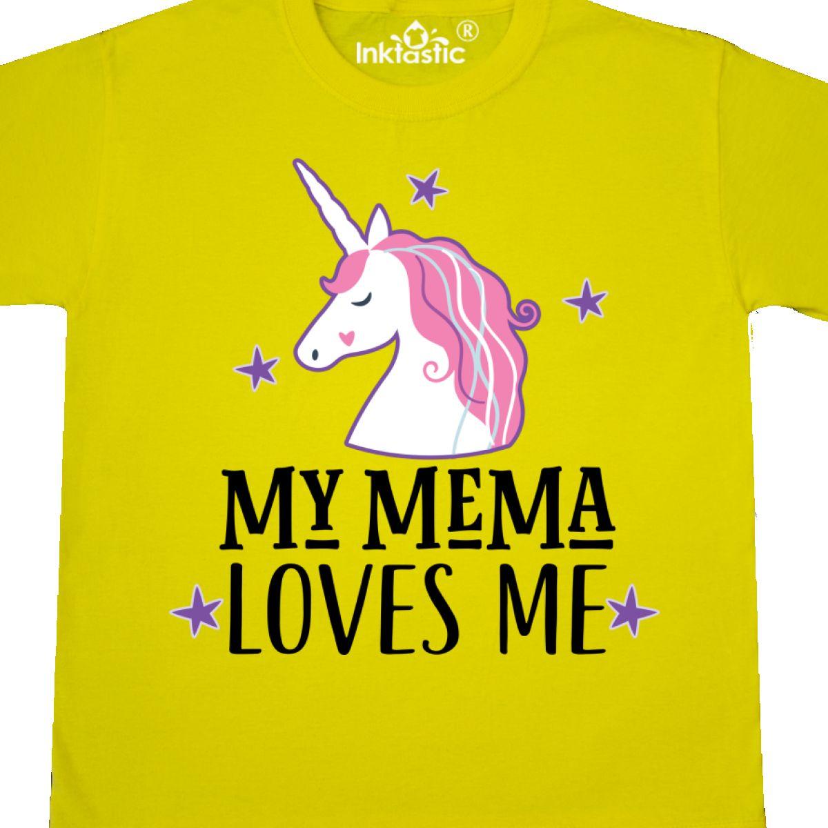 Inktastic My Mema Loves Me Girl Unicorn Youth T-Shirt Childs Grandchild Apparel