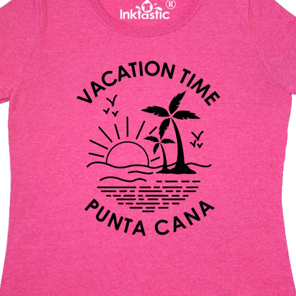 Inktastic Vacation Time In Punta Cana Women/'s T-Shirt Summer Spring Break Ocean