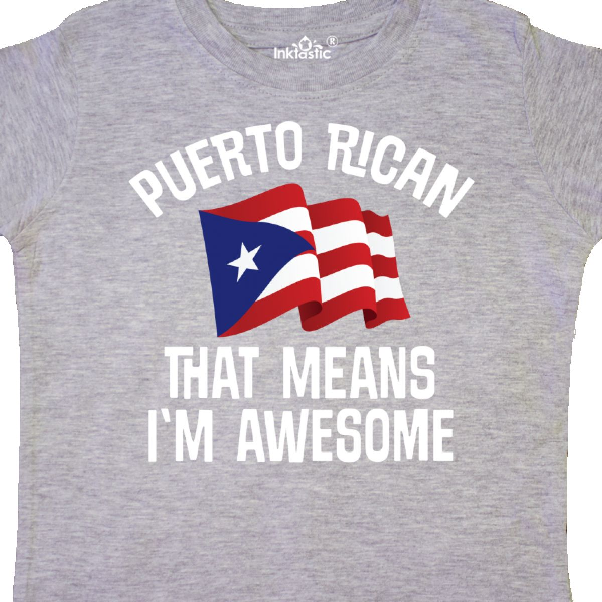 Inktastic Puerto Rican Awesome Toddler T-Shirt From Proud Pride International