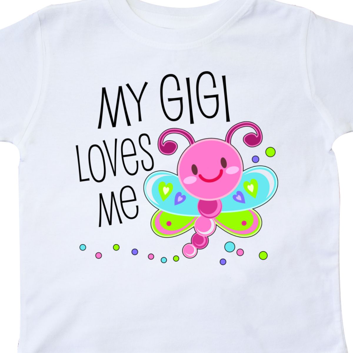 Cute Dragonfly Toddler T-Shirt Family Grandma Bug Inktastic My Gigi Loves Me