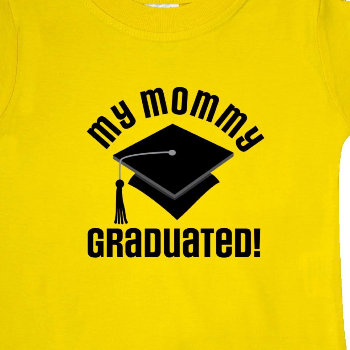 Inktastic My Mommy Graduated College Graduate Baby T-Shirt Grad Childs Boys Kids