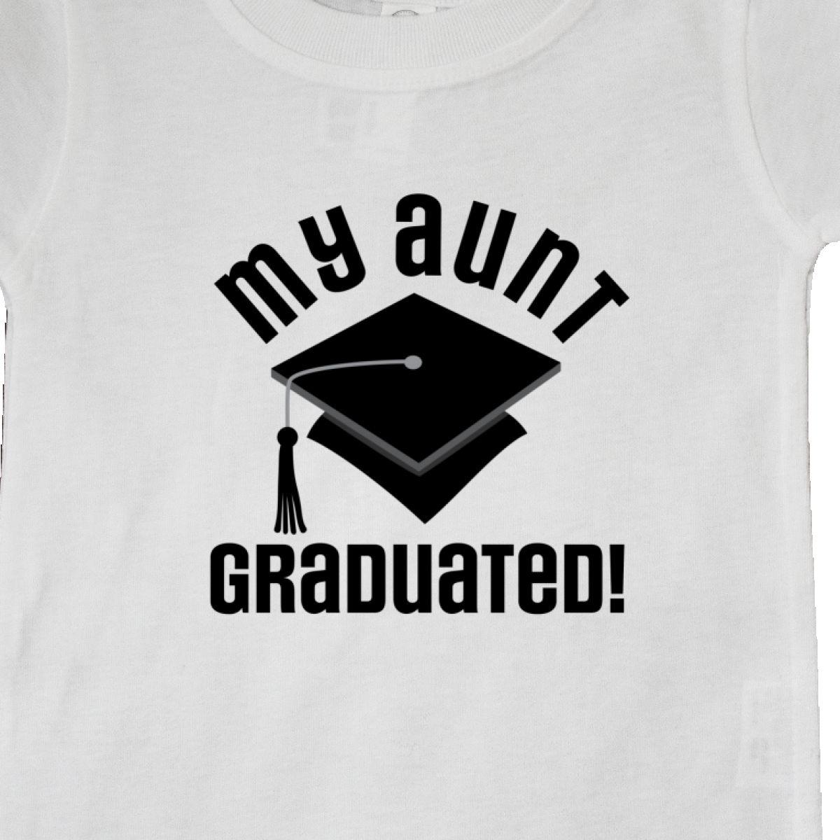 Inktastic My Aunt Graduated Niece Nephew Gift Baby T-Shirt Graduate Boys Girls