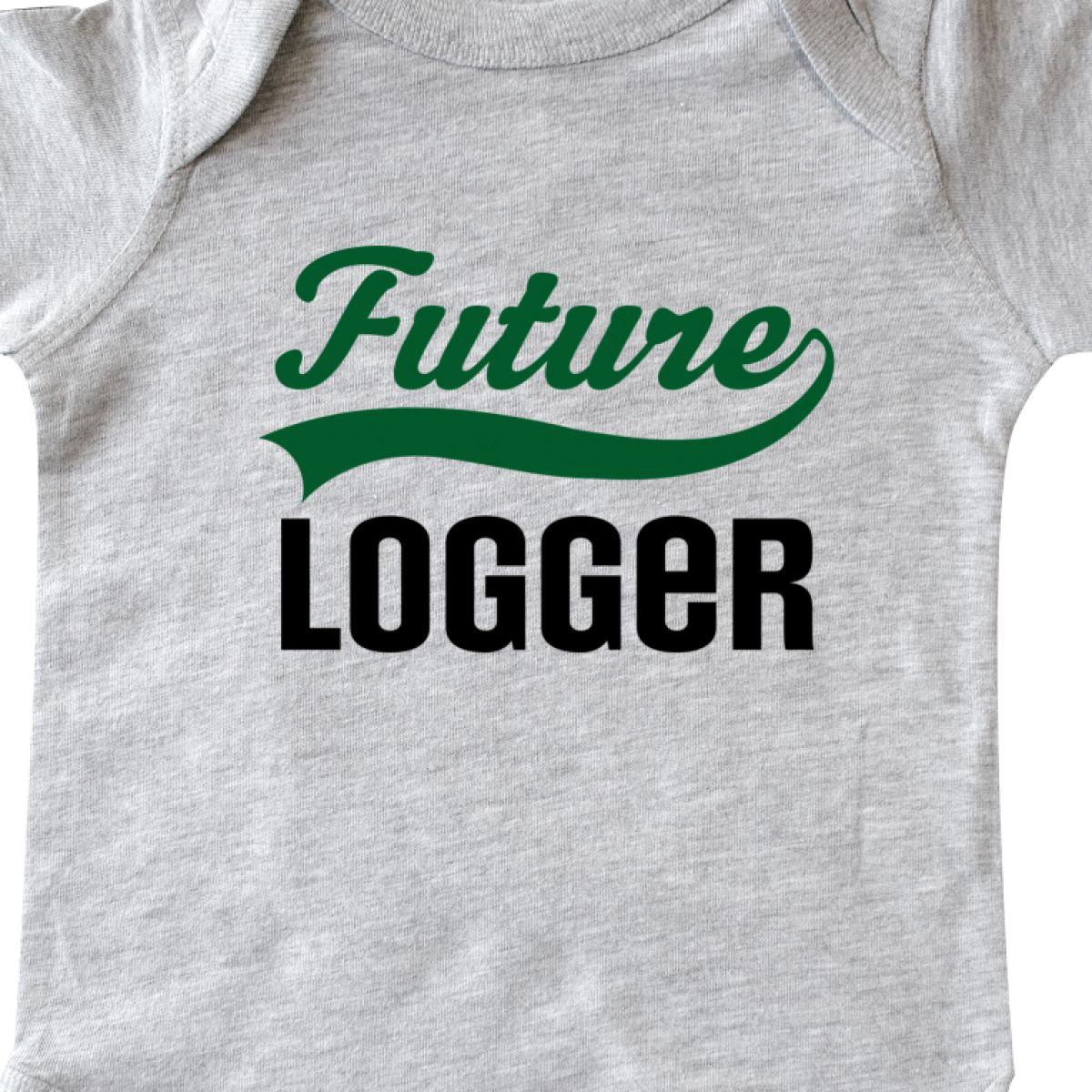 Inktastic Logging Future Logger Infant Creeper Training Lumber Wood Job Apparel