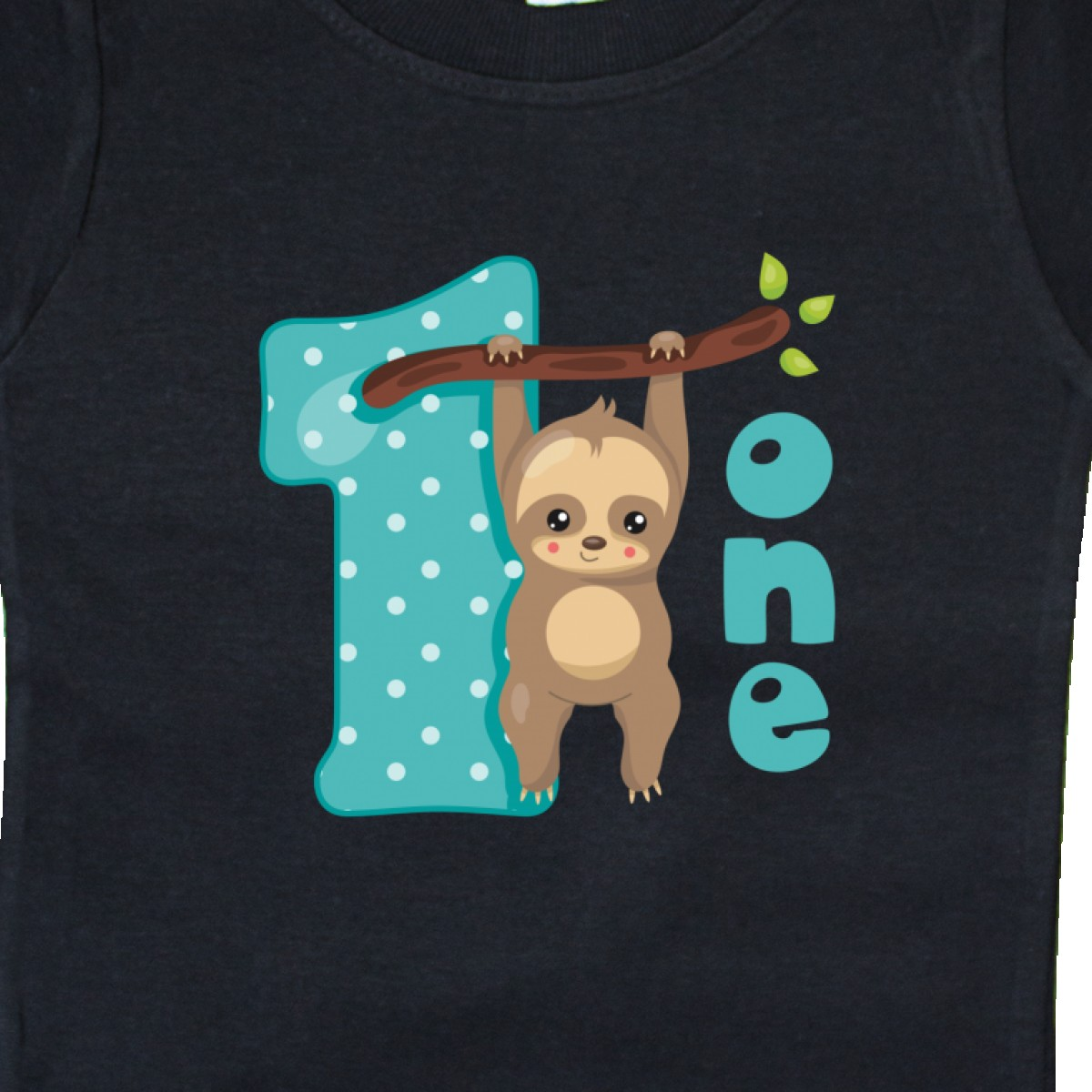 Inktastic Baby Sloth 1st Birthday Baby T-Shirt Cute Lover Pinkinkartkids First