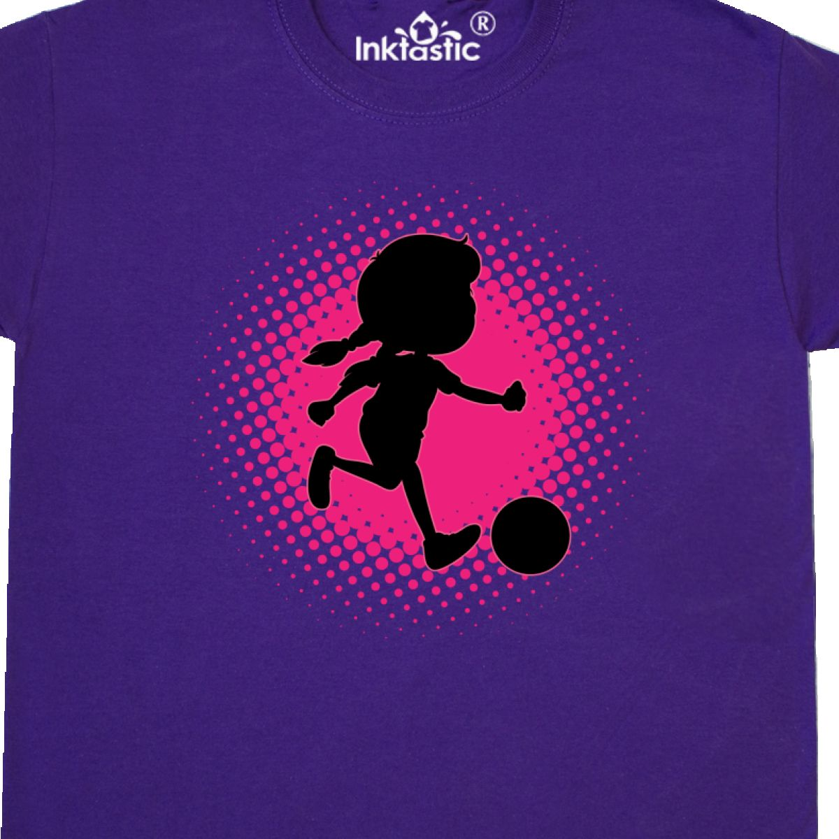 Inktastic Girl Soccer Player Sports Team Youth T-Shirt Girls Childs Gift Apparel