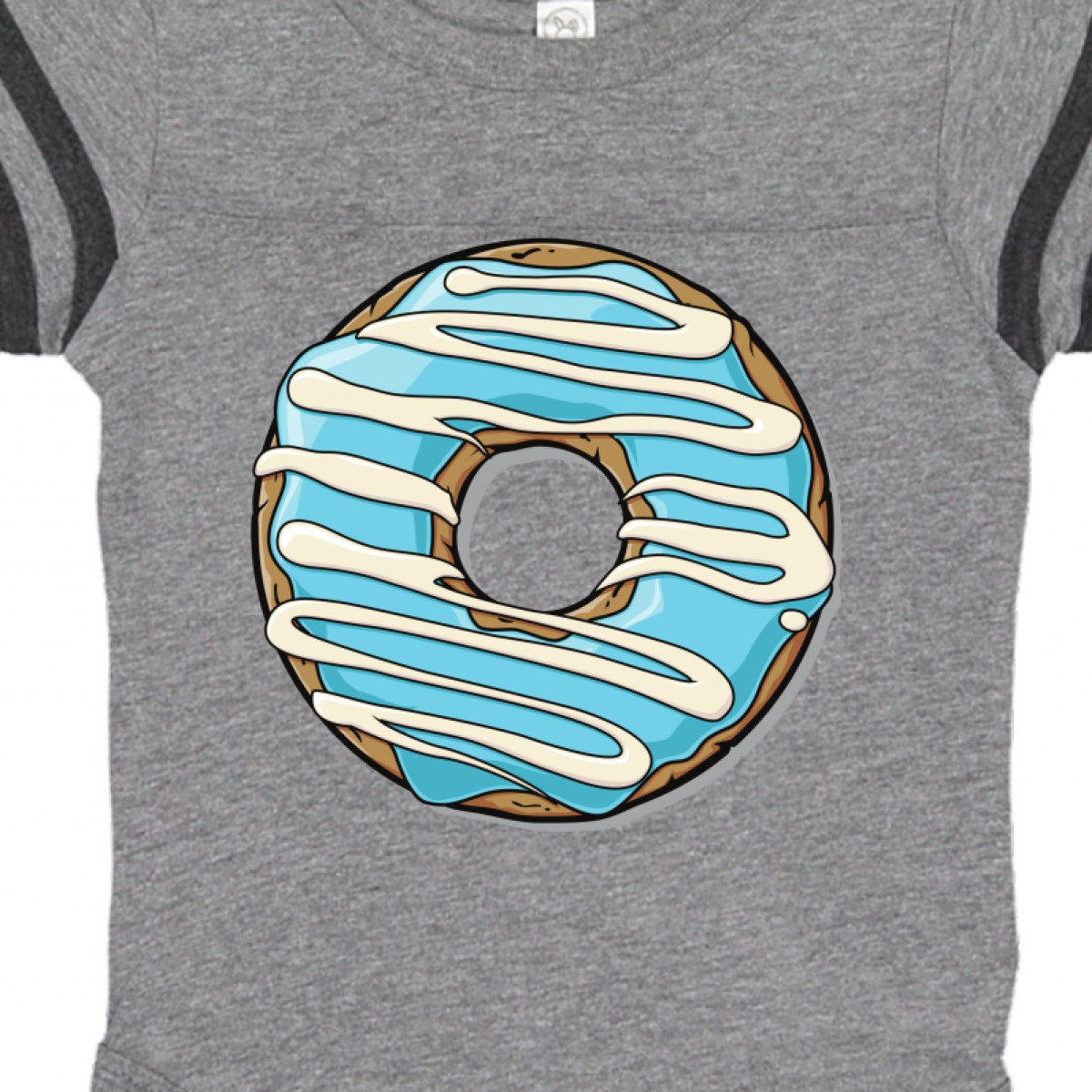 Inktastic Donut Blue Frosting White Icing Infant Creeper Doughnut Colorful Glaze
