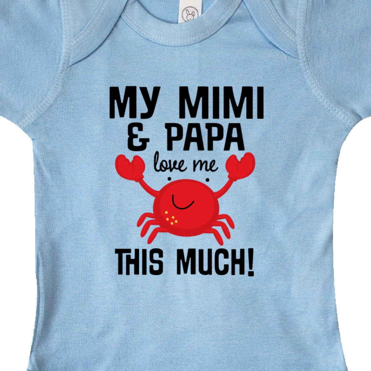 Inktastic Mimi And Papa Love Me Crab Infant Creeper Grandkids Boys Girls Outfit