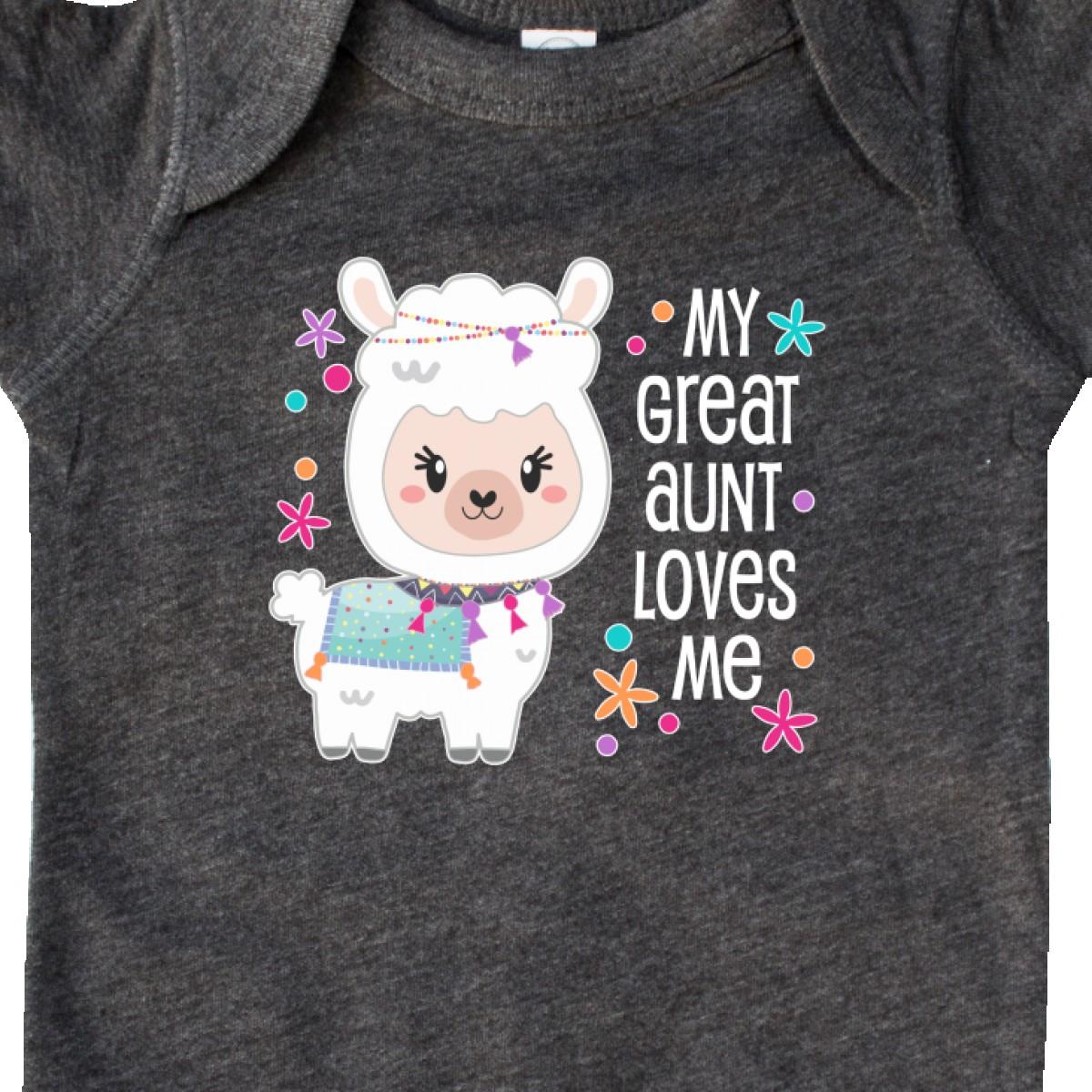 Inktastic My Great Aunt Loves Me Cute And Happy Llama Infant Creeper Llamas Kid