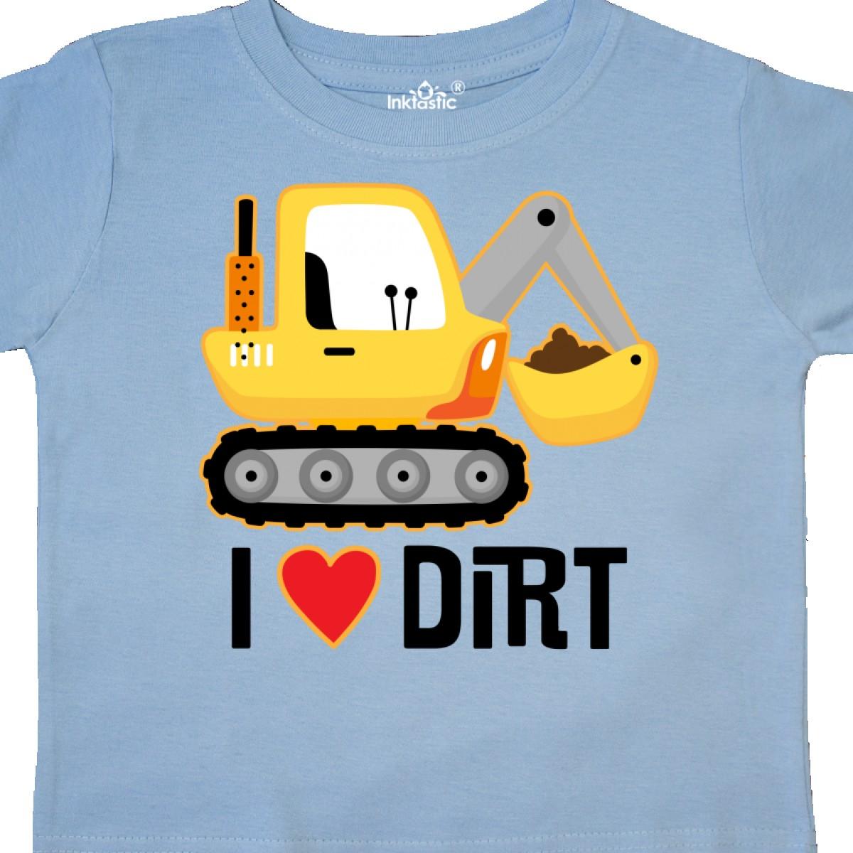 Inktastic Construction Truck I Love Dirt Toddler T-Shirt Digger Boys Childs Toys