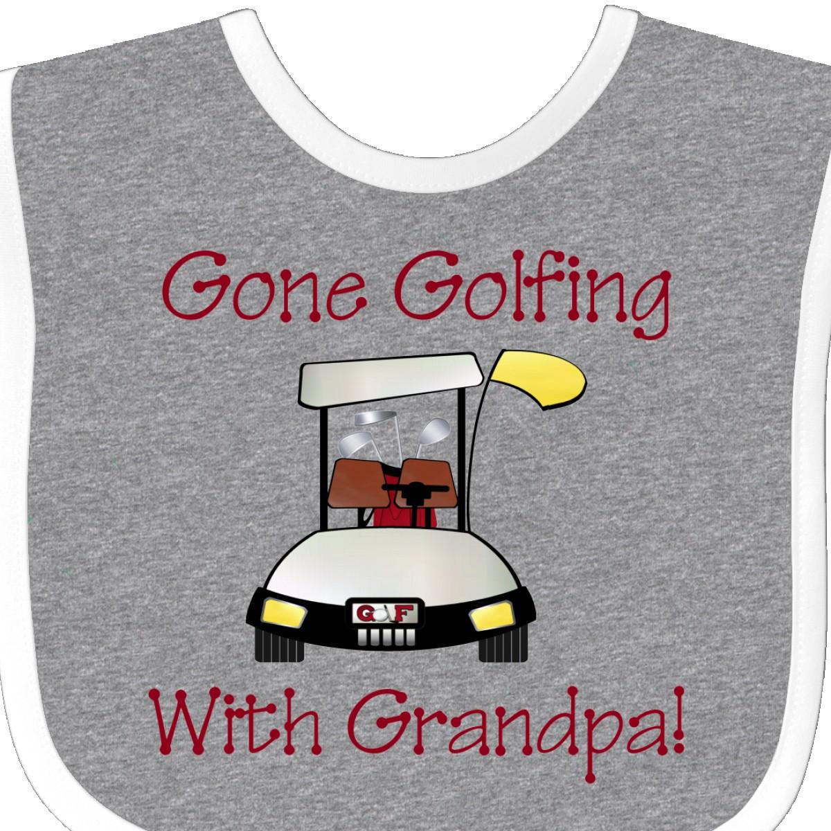 Inktastic Gone Golfing With Grandpa Baby Bib Father/'s Day Fathers Flowers Happy