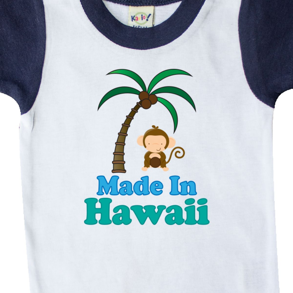 Inktastic Made In Hawaii Monkey Infant Creeper Kids Cute States U S State Pride