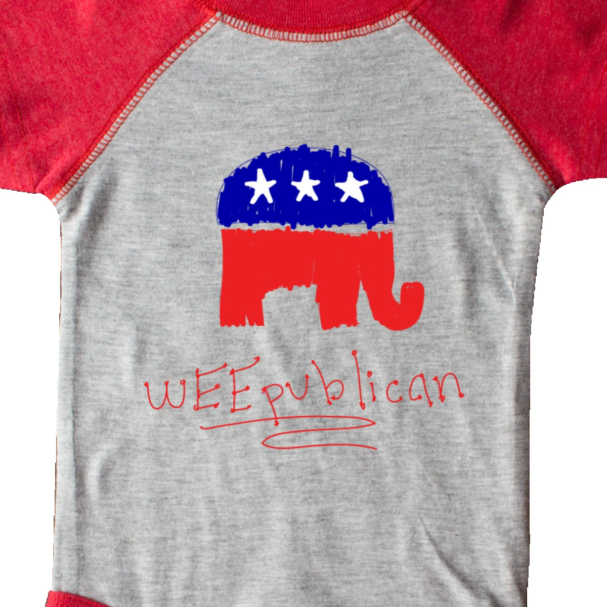 Inktastic Weepublican Infant Creeper Republican Elephant Colored Election Season