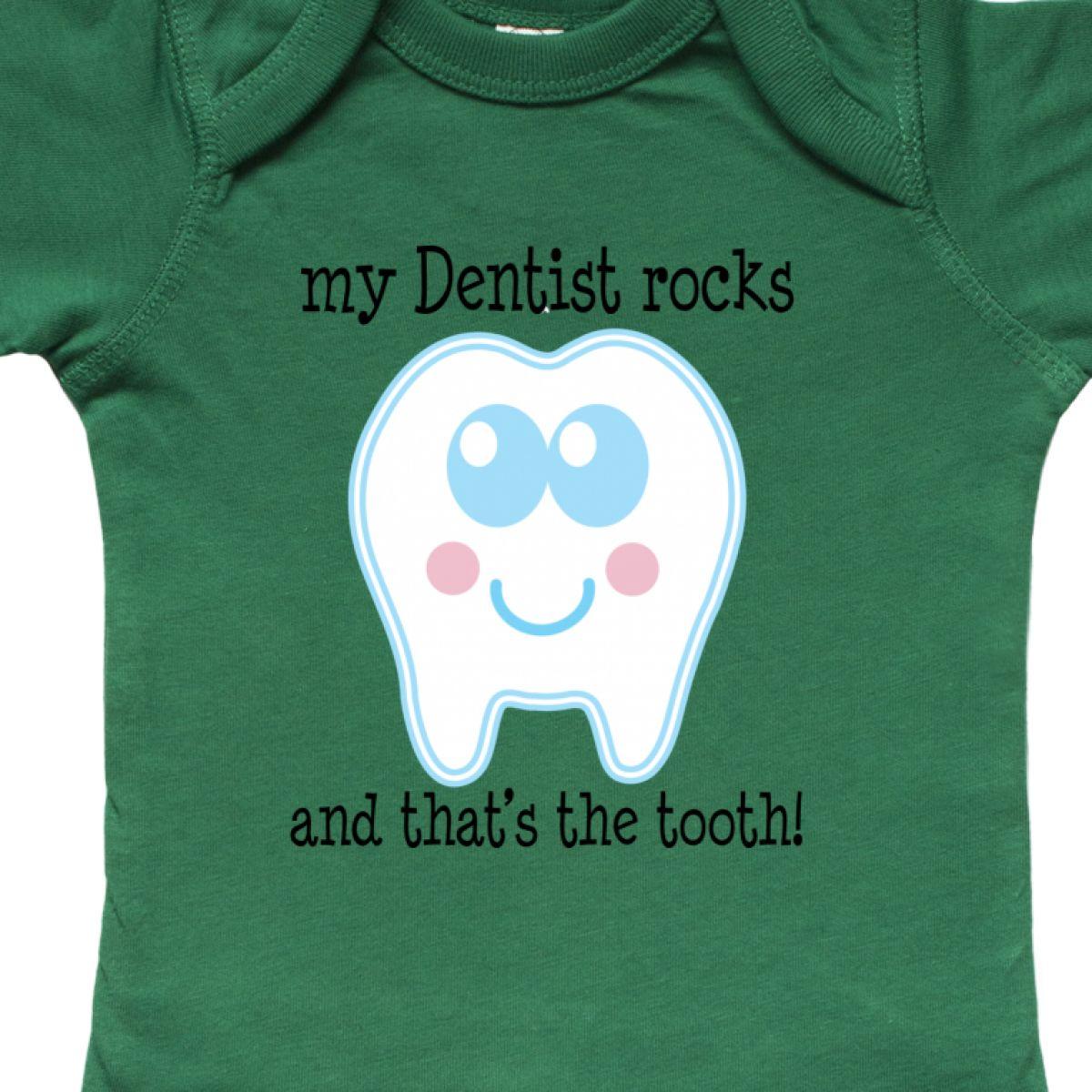 Inktastic Dentist Rocks Tooth Infant Creeper Occupation Dental Teeth Funny Hws