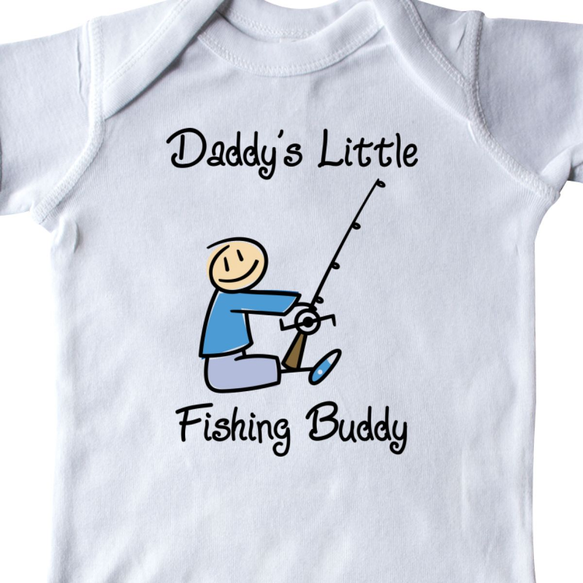 Inktastic Daddy/'s Little Fishing Buddy Infant Creeper Daddy Fish Boy One-piece