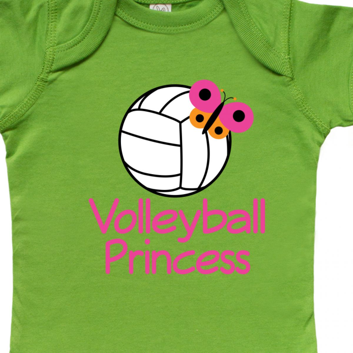 Inktastic Volleyball Butterfly Princess Infant Creeper Girls Womens Sports Hws