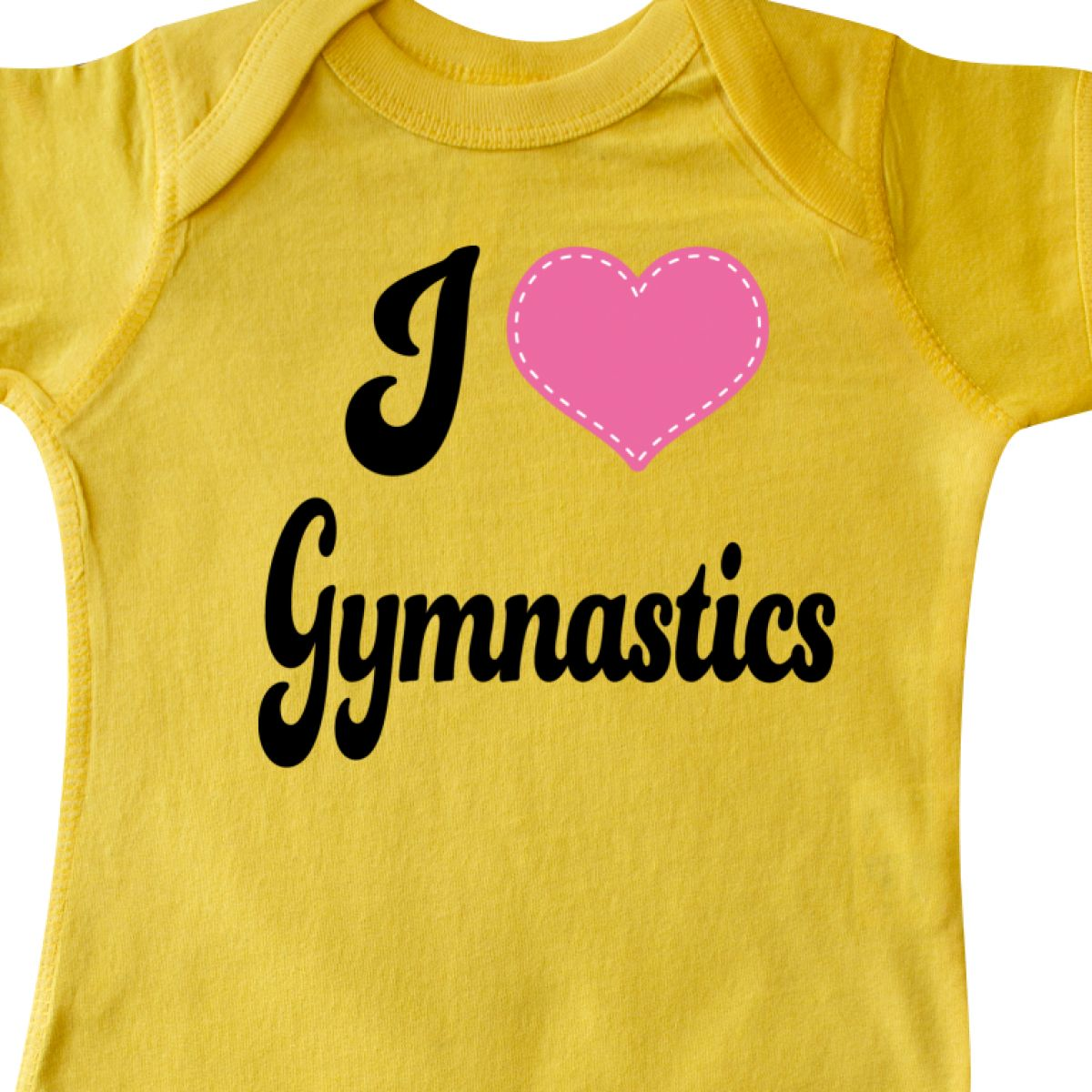Inktastic I Love Gymnastics Infant Creeper Heart Lover Gymnast Teacher Coach Hws