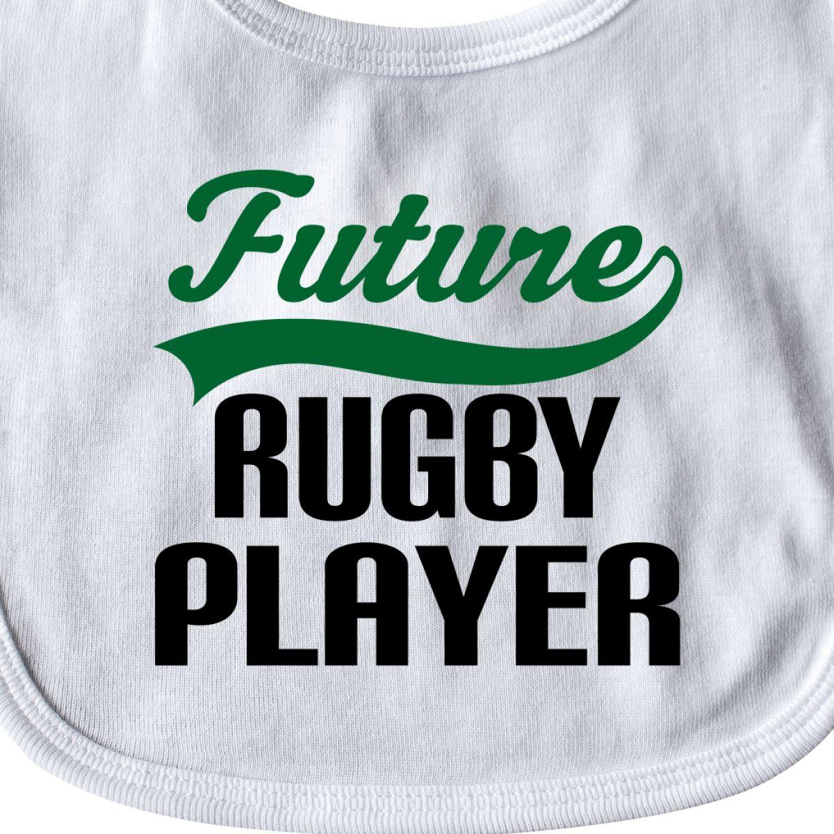 Inktastic Future Rugby Player Baby Bib Sports Team Boys Gift Cute Little Athlete