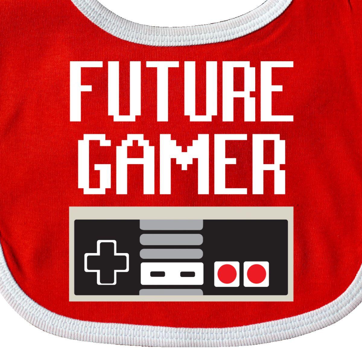 Inktastic Future Gamer Baby Bib Geek Funny Humor Laughs Humorous Gift Clothing