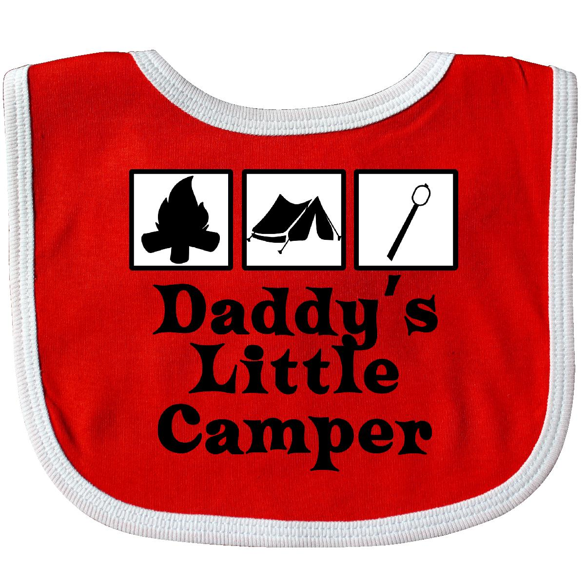 Inktastic-Daddy-039-s-Little-Camper-Baby-Bib-Camping-Fathers-Day-Cute-Summer-Funny