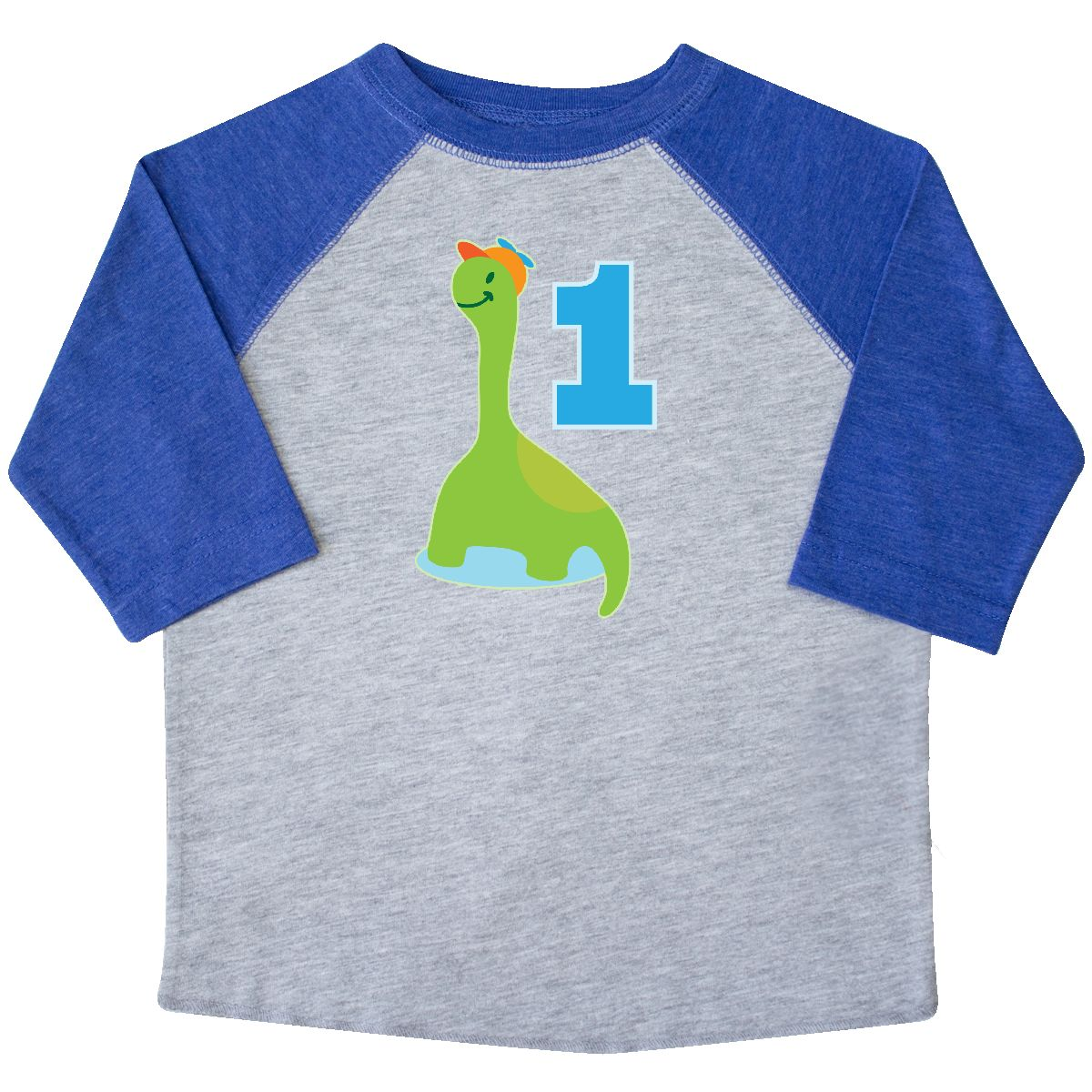 Dinosaur Boys 1st Birthday Party Toddler T Shirt Heather And Royal 2T