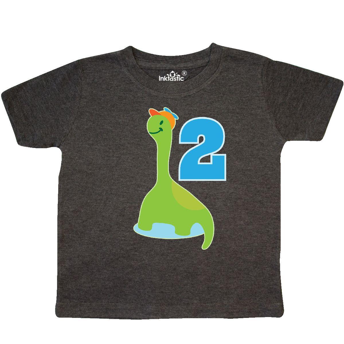 Inktastic Dinosaur 2nd Birthday Boys Cute Dino Toddler T