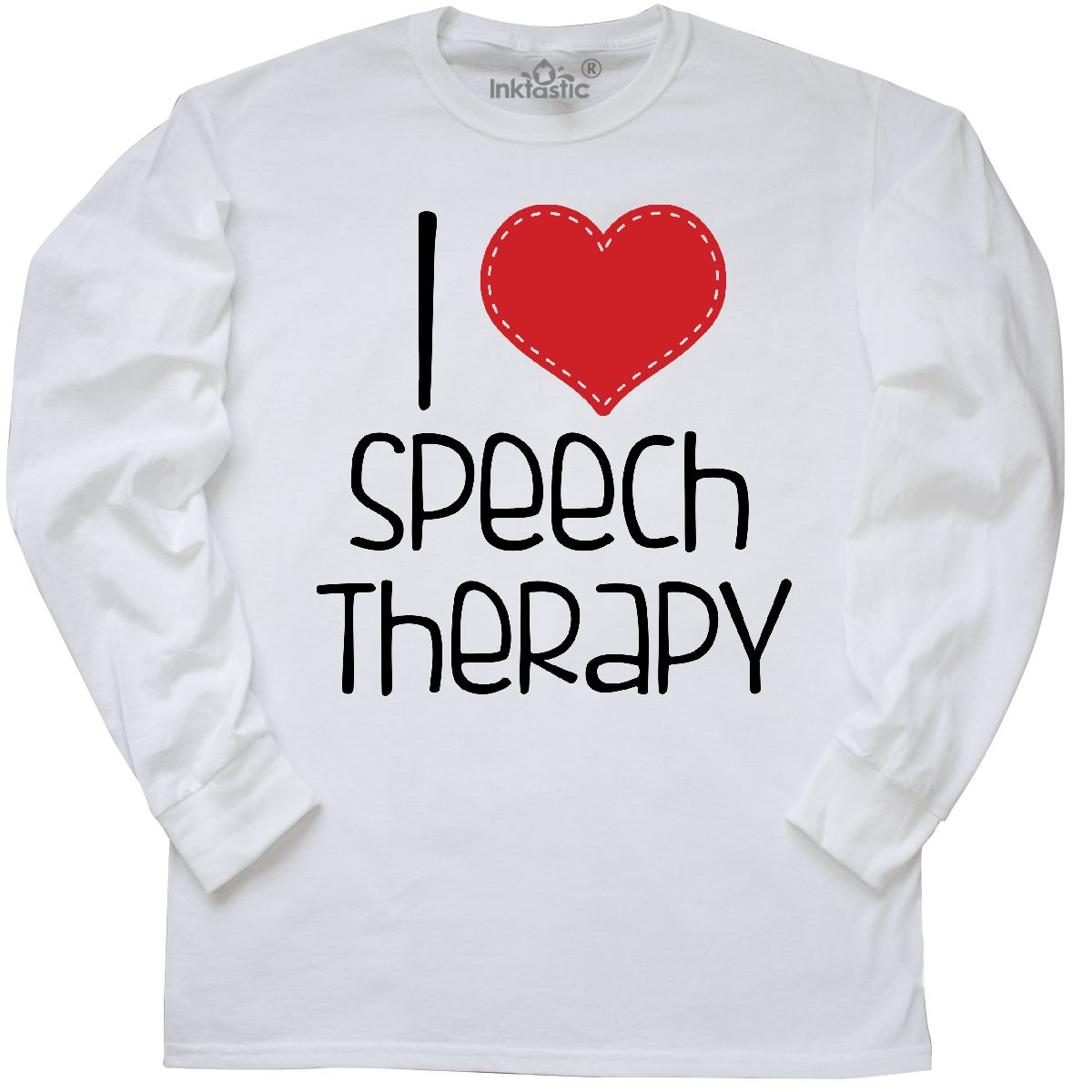 Inktastic I Heart Speech Therapy Long Sleeve T-Shirt