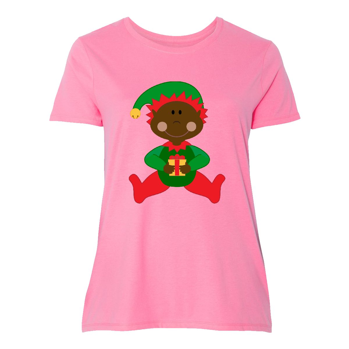 7622e5236 Inktastic Christmas Elf Ethnic Women's Plus Size T-Shirt Holiday ...