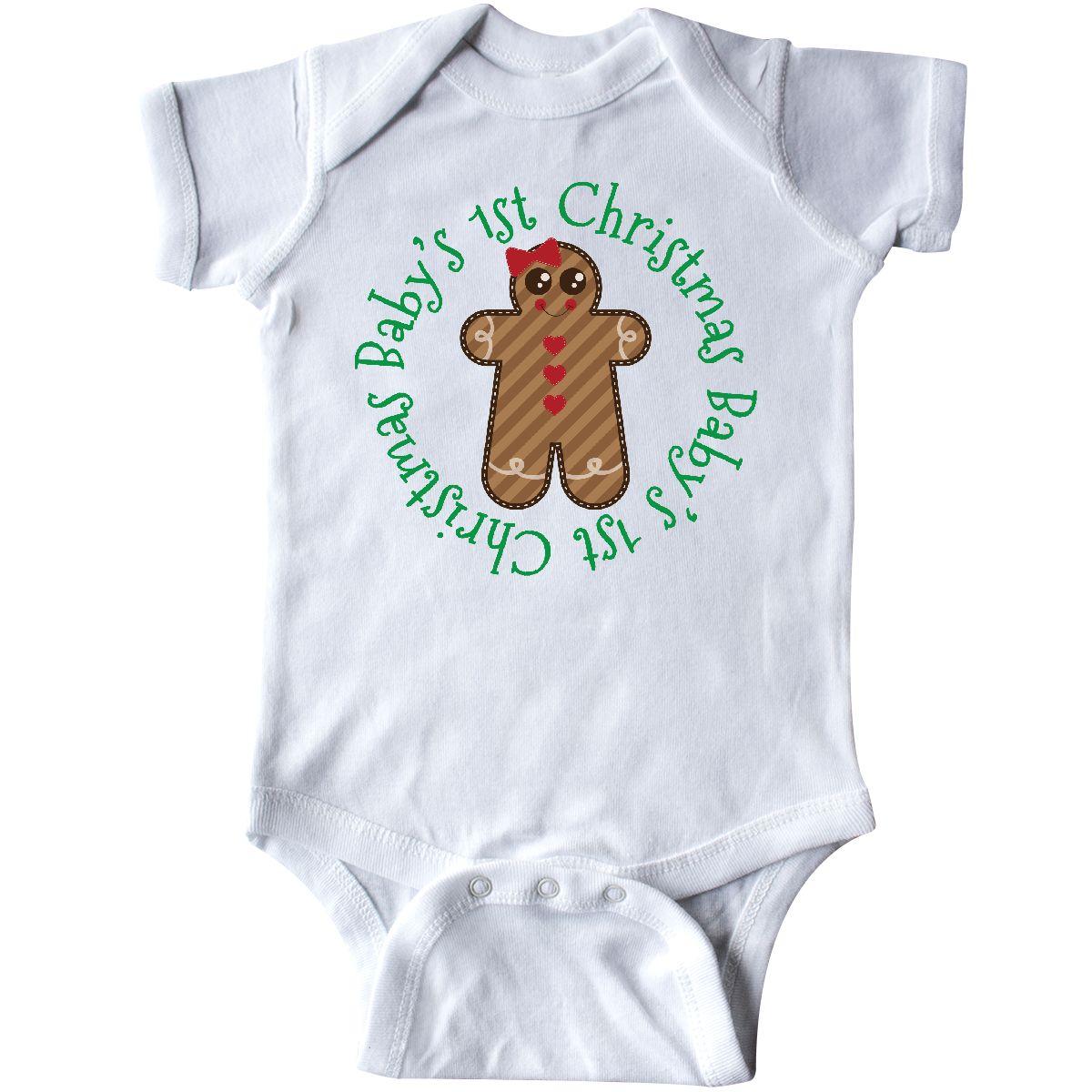 8865dbda8a4d Inktastic Baby First Christmas Gingerbread Girl Infant Bodysuit ...
