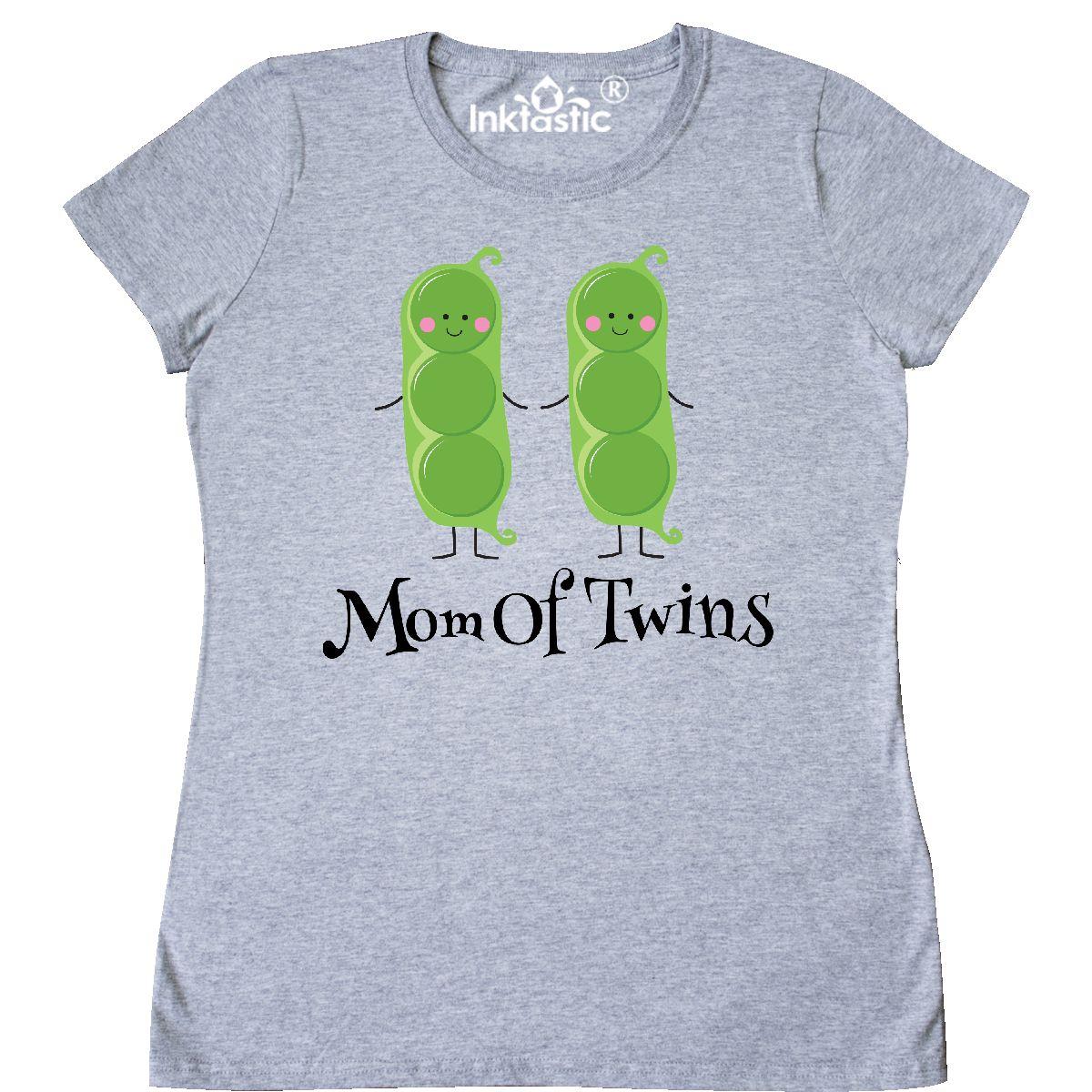 b09e1ea02c14c Inktastic Mom Of Twins Pea Pod Babies Women's T-Shirt Mother Twin ...
