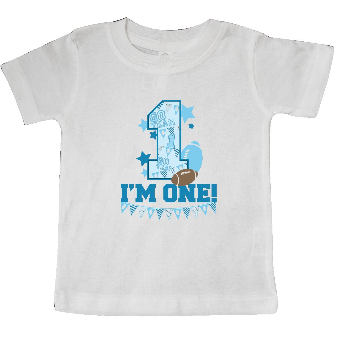 Inktastic I M One Football Baby T Shirt First Birthday 1 Football