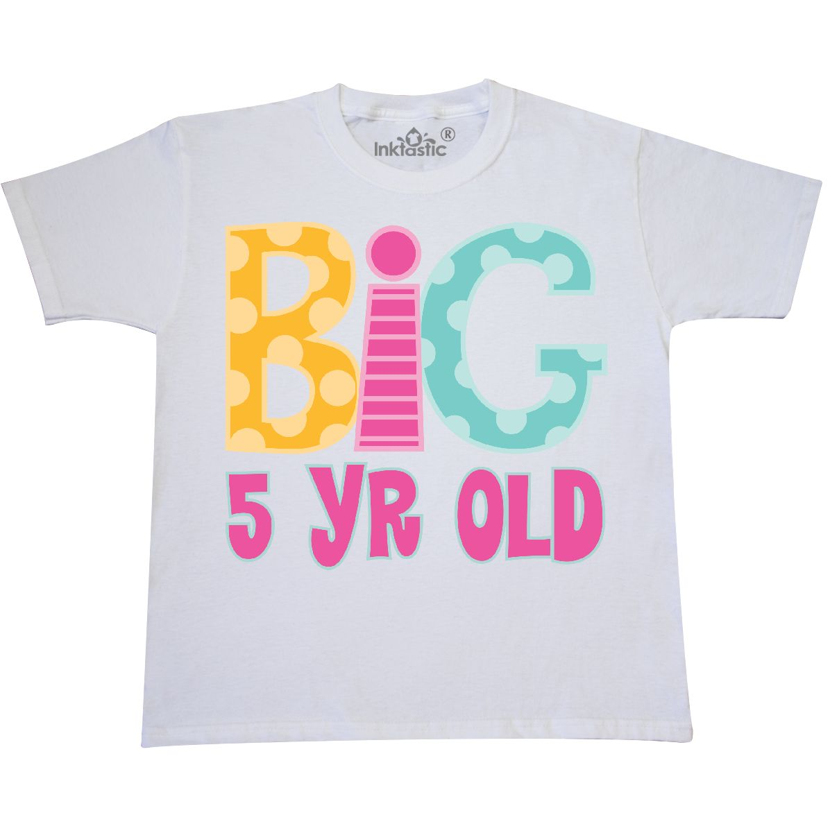 5th Birthday Big 5 Year Old Youth T Shirt White X Small 2 4