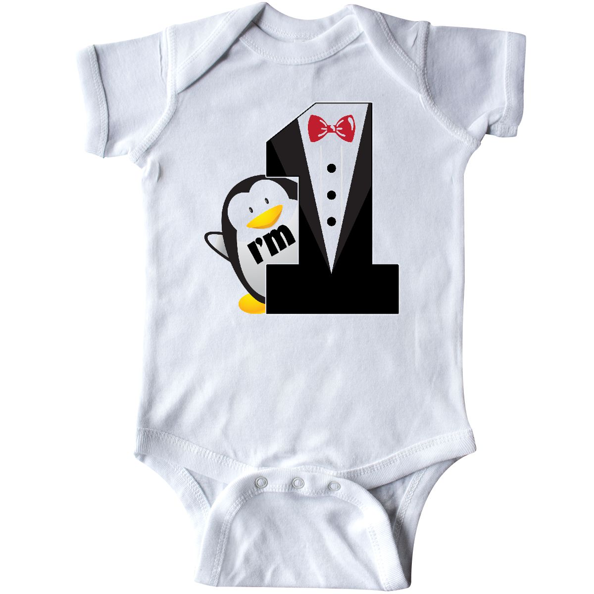 Inktastic 1st Birthday Tuxedo Penguin Infant Creeper Tux First Baby