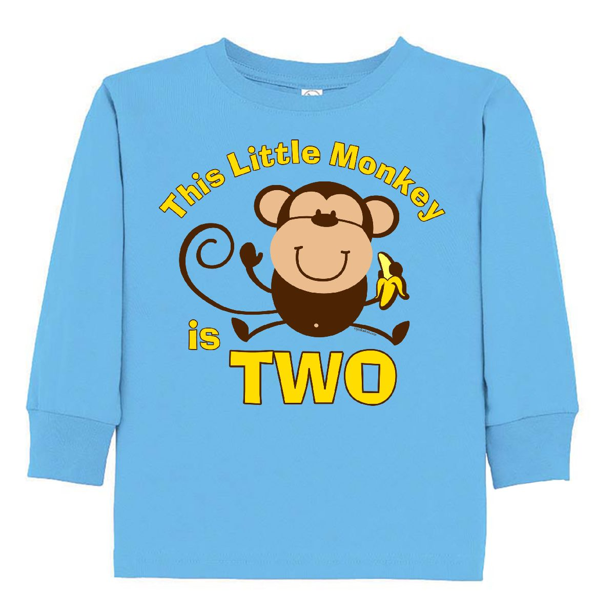 INKtastic Little Monkey 2nd Birthday Boy Toddler Long Sleeve T Shirt