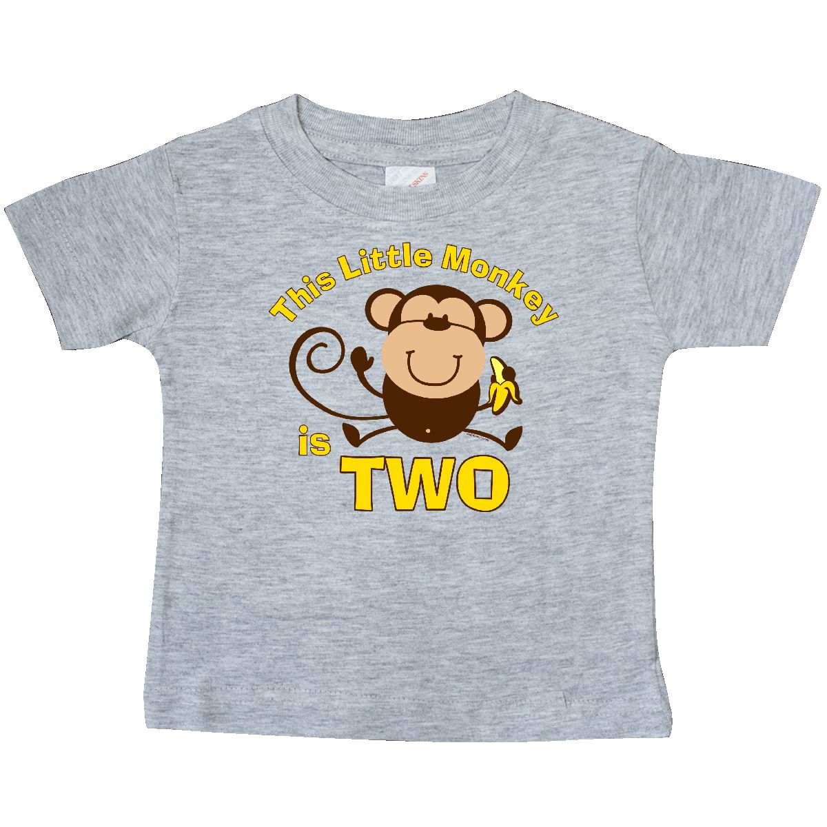 Inktastic Little Monkey 2nd Birthday Boy Baby T