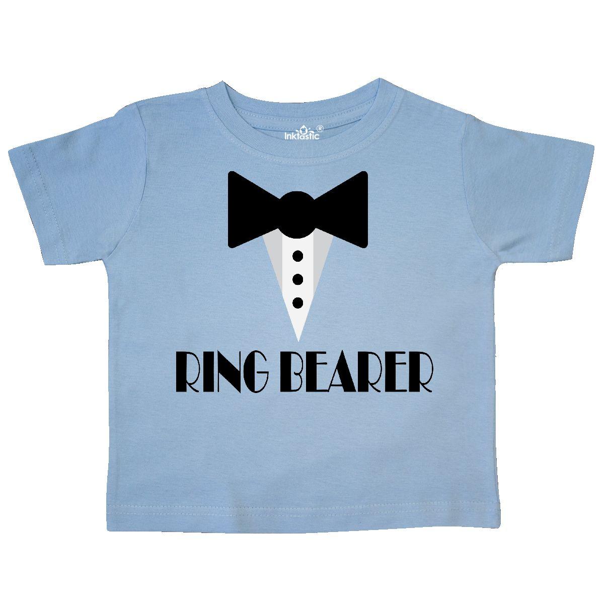 Inktastic Ringbearer Mock Tux Wedding Tuxedo Toddler T-Shirt Ring ...
