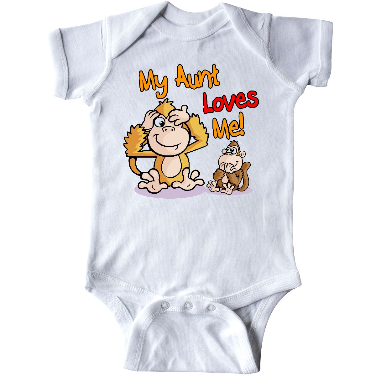 090c3ed1d Inktastic My Aunt Loves Me Monkey Infant Creeper Cute One-piece | eBay