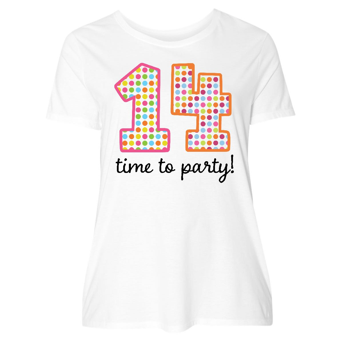 14th Birthday Party Womens Plus Size T Shirt White 1 14 16