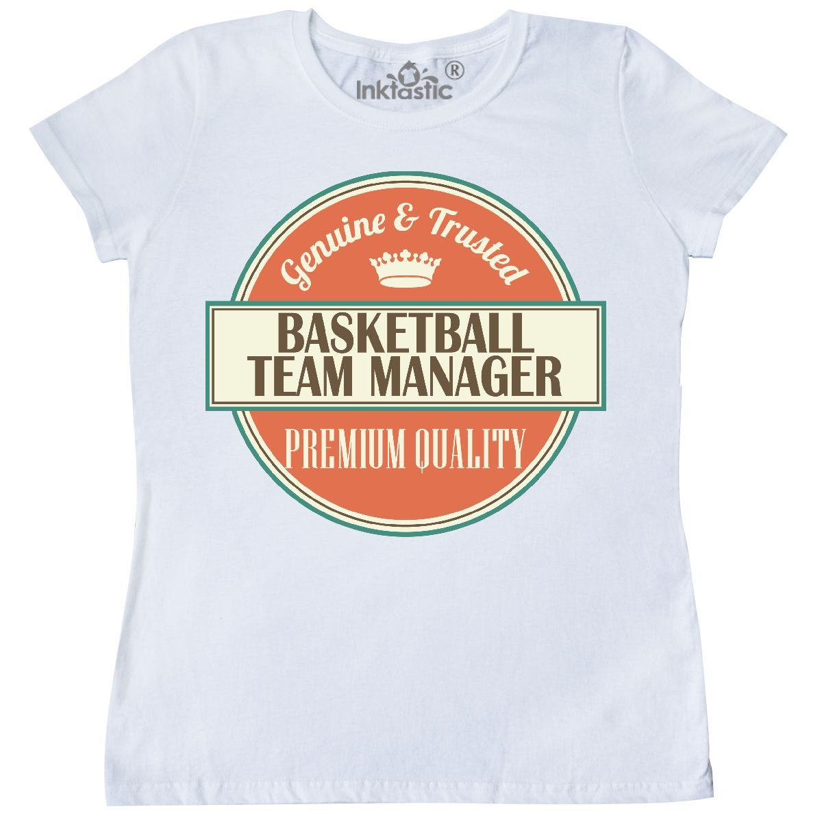6e65f25c7 Inktastic Basketball Team Manager Funny Gift Idea Women's T-Shirt ...