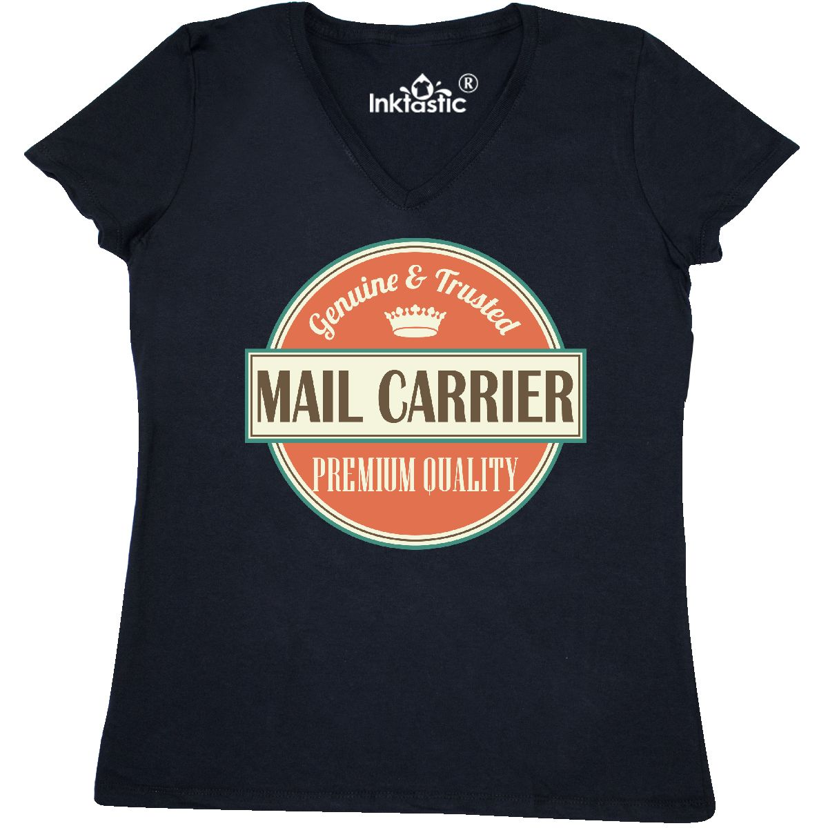 13526b645 Inktastic Mail Carrier Funny Gift Idea Women's V-Neck T-Shirt ...